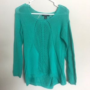 mint green Forever 21 knit sweater